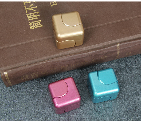 DHL 3.5cm super Fidget Cube Colorful Hand Spinner Decompression Finger Toys Magic Cubes ADHD Autism Kid Adults In stockPcc Team top magic