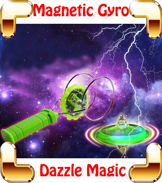 New Arrival Gift Dazzle Magnetic Gyro Flashing Magic Spinning Top Electric Toys For Boys Stunt Hot Wheel Flexibility Game Toy