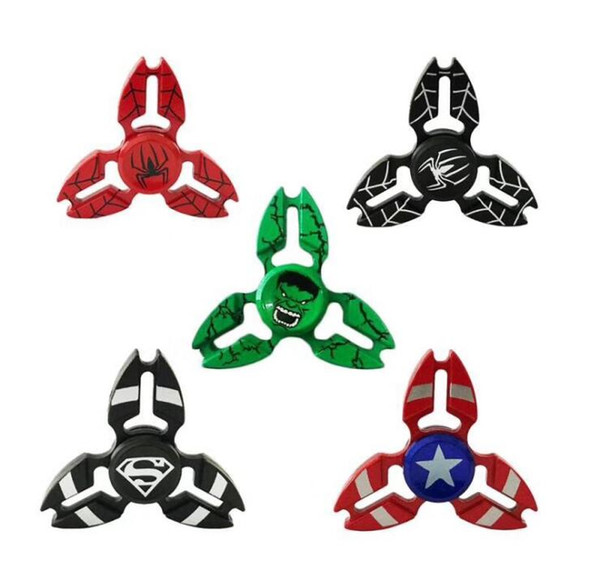 Explosive sales direct zinc alloy triangle finger tip gyro Spiderman captain three legged crab decompression gyro