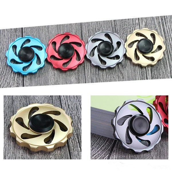 Round Flywheel Aluminum metal Fidget Spinner Hand Spinner Tri Fidget Handspinner Novelty EDC Toys For Decompression Finger Toys