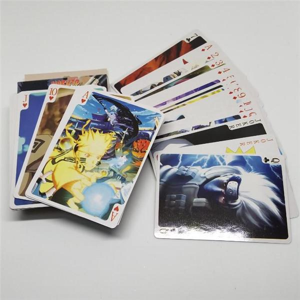Japanese Animation Playing Cards Naruto Pictures Poker Naruto Poker Cards Board Game Collection Edition's cards