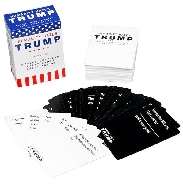 Humanity Hates Trump Humanity Hates Hillary Clinton Card Game Expansion One (80 White Cards, 30 Black Cards)