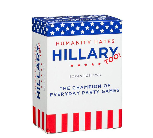 Humanity Hates Trump Humanity Hates Hillary Clinton Card Game Expansion One (80 White Cards, 30 Black Cards)Ship Immediately!