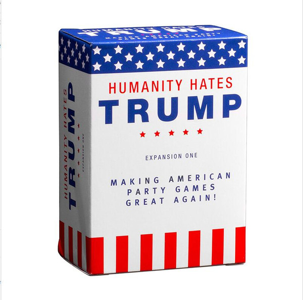 Humanity Hates Trump Humanity Hates Hillary Clinton Card Game Expansion One (80 White Cards, 30 Black Cards) Christmas Gift