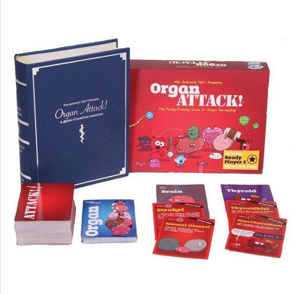 Adult Party Game Organ ATTACK! Cards Game Attack Deck the Family-Friendly Game of Organ Harvesting IMMEDIATELY DELIVERY Board games