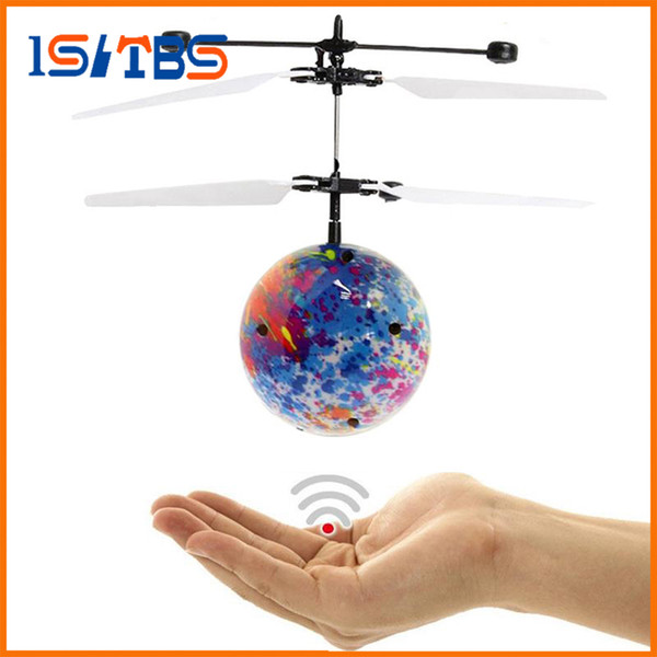 2018 Hot Sale Mini Drone Hand Flying UFO Ball LED Mini Induction Suspension RC Aircraft Flying Toy Ball