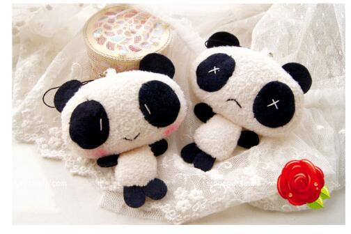 New hot cute panda creative children cartoon plush toy doll machine mini pendant doll activity gift doll