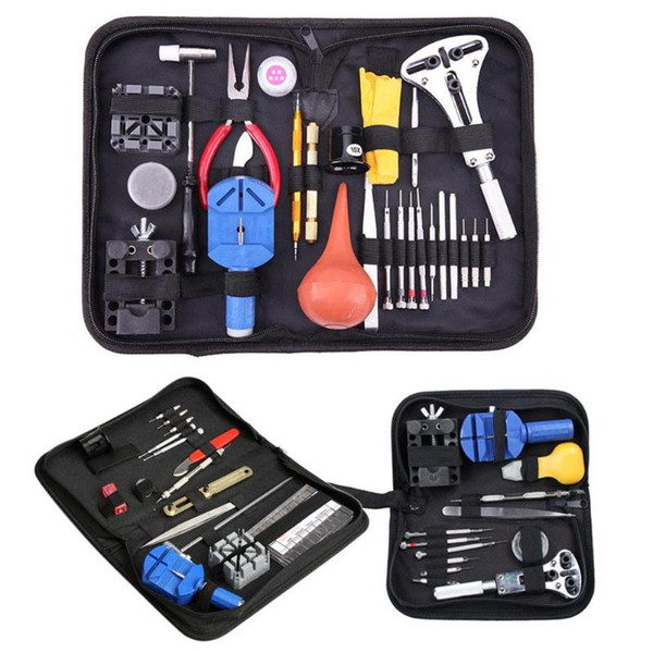 13/16/27pcs Watch Repair Tools Kit Watch Case Opener Link Spring Bar Remover Screwdrivers Tweezers Watchmaker