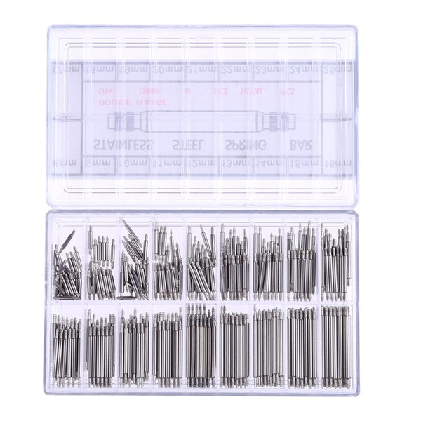360pcs Watchmaker Clock Watch Tools 8-25mm Stainless Steel Band Spring Bars Strap Link Pins Watch Repair Tool Kit