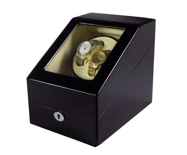 DHL Send 4 Colors Luxury Wooden Watch Winder Wristwatch Box Rotary Automatic Rotating Watch Winder Display Gloss Piano Paint