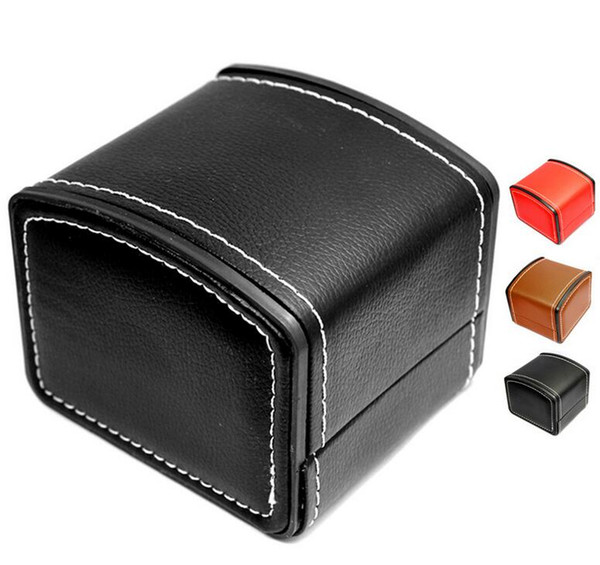 New Luxury Watch Boxes PU leather watch boxes Mens For Watch Box Woman's Men Watches Boxes Papers