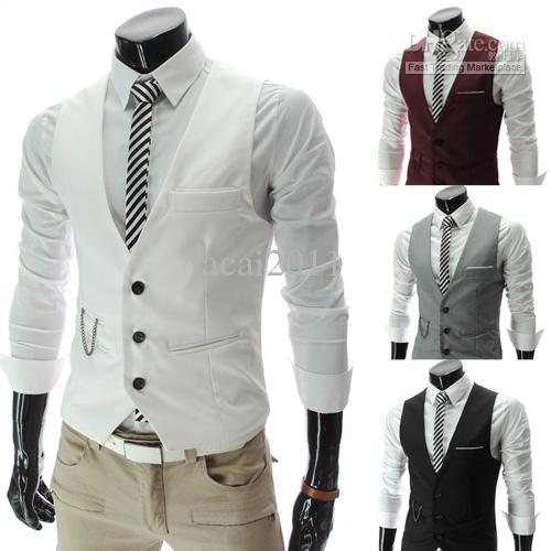 New Formal Men's Waistcoat Groom Tuxedos Wear Bridegroom Vests Casual Slim Vest Custom Made