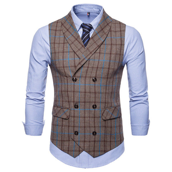 Groom Vests Groomsmens Best Man Vest Custom Made Size and Color Plaid Wedding Prom Dinner Waistcoat