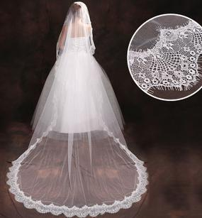 Wholesale hot Bridal wedding accessories new modeling bride 3 meters double layer soft yarn veil T305