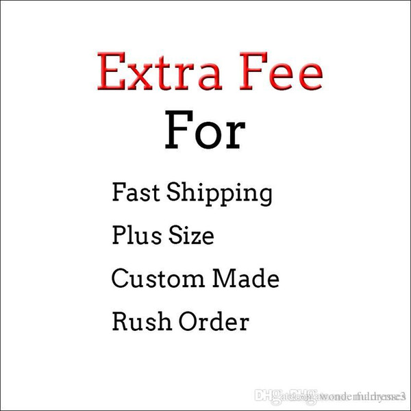 Extra Fee For Fast Shipping Prom Dresses Custom Made Party Dresses Plus Size Prom Rush Order Evening Dresses