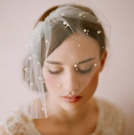 Wholesale hot sell Bridal wedding supplies Soft wedding short veil V002