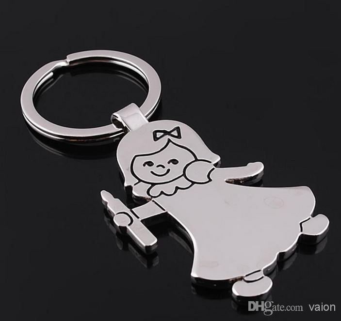 10pcs/1lot NEW Fashion beautiful girl style shine Stainless alloy steel key chain high quality keychains best gift 076